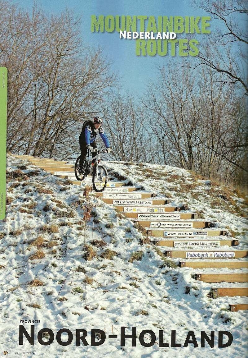 """De trap volop in beeld in het maandblad """"Bike Freak"""" (2010)"""