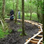 aanleg plankenpad Smaal 2014